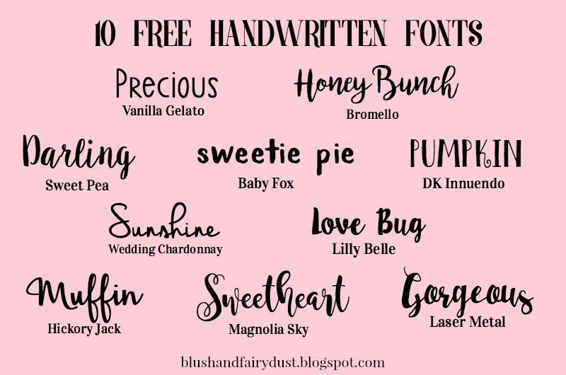 10 Free Handwritten Fonts to Download