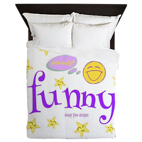 A Funny Thought Queen Duvet
