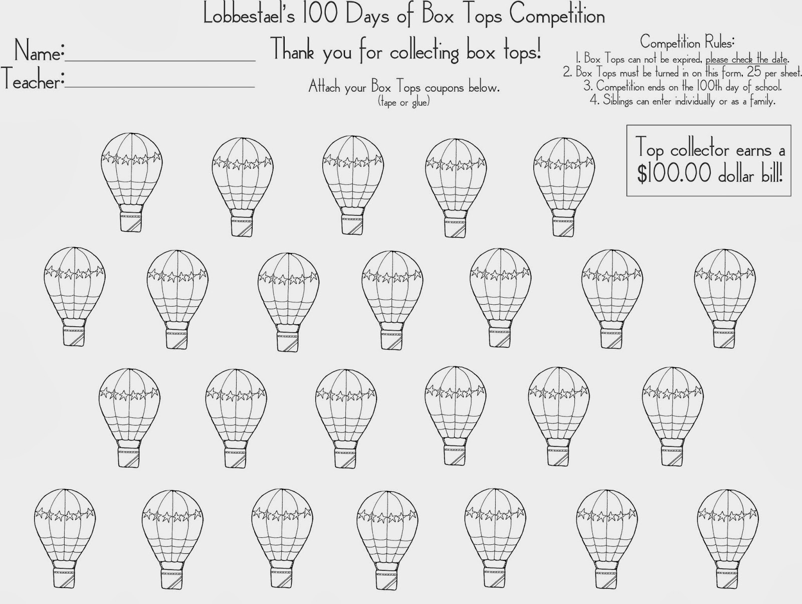 Lobbestael Ptc 100 Days Of Box Tops Competition