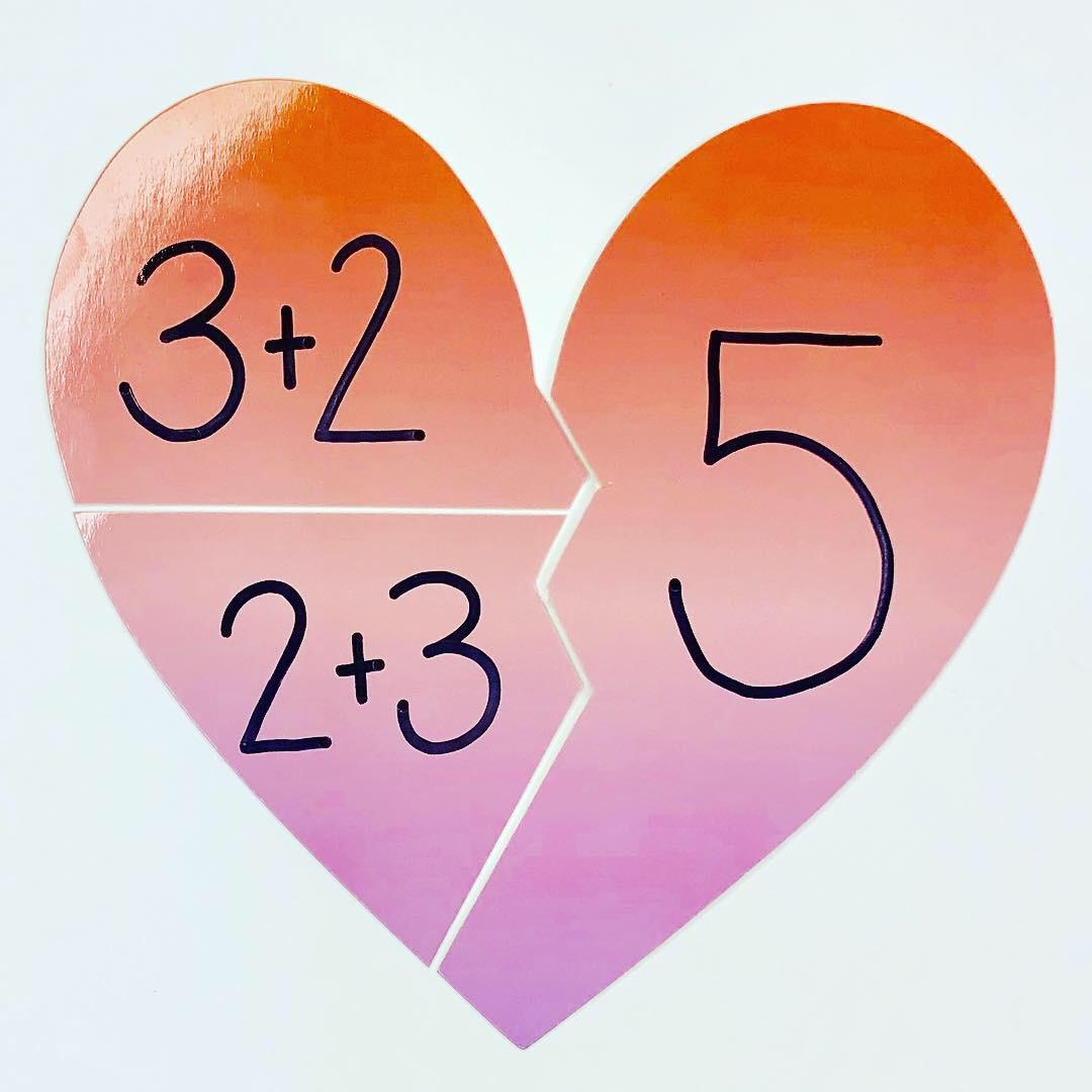 Broken Hearts Math Activity And Free Recording Sheet