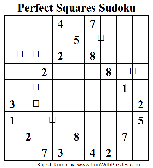 Perfect Squares Sudoku (Daily Sudoku League #82)