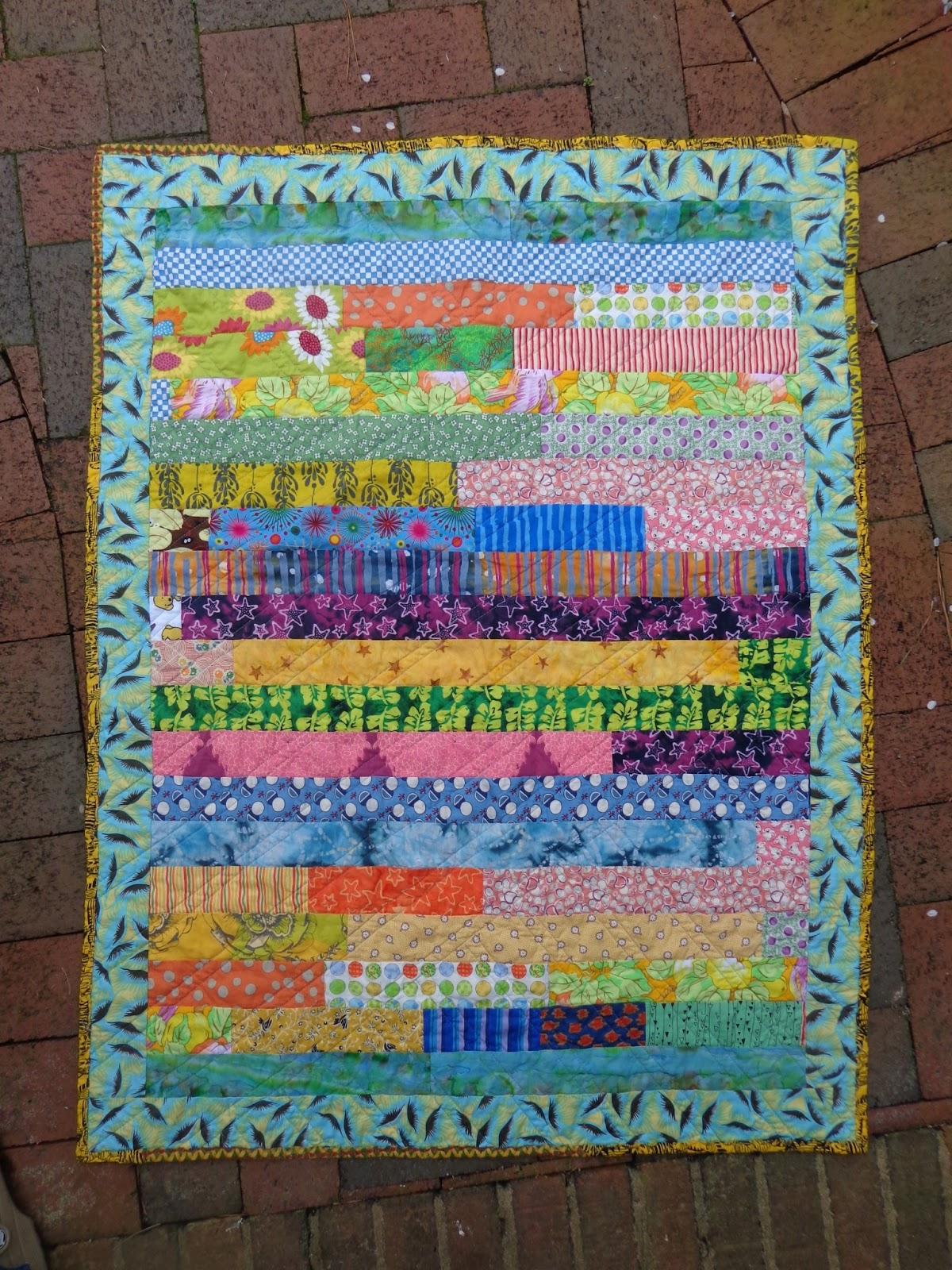 O Quilts Cut Up Jelly Roll Quilt 2
