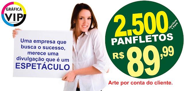 01432de030 2.500 Panfletos Coloridos Frete  Grátis + Barato Do Brasil