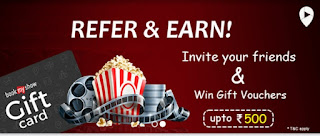 ShopinOut App : refer & earn 150 & 500 Bookmyshow voucher