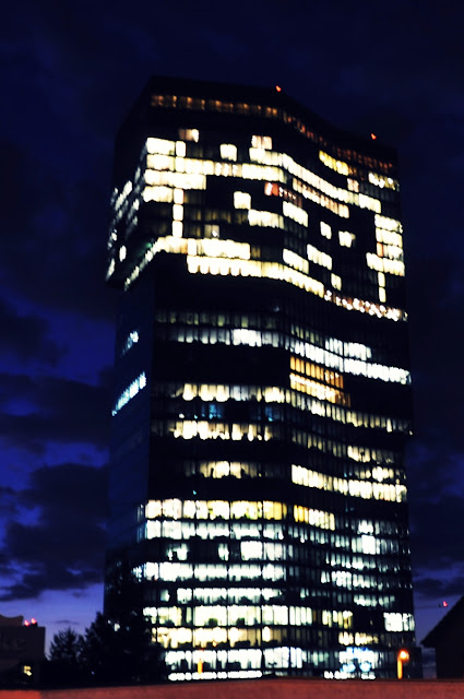 Primetower Zurich by night