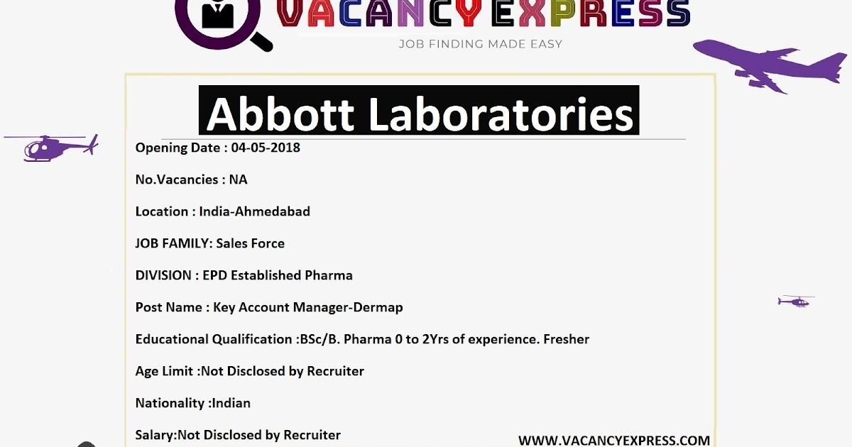 Abbott Laboratories Recruitment Click Here For Job Details Apply Online