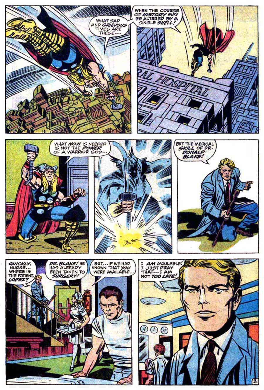 Thor v1 #171 marvel 1970s bronze age comic book page art by Jack Kirby, Bill Everett