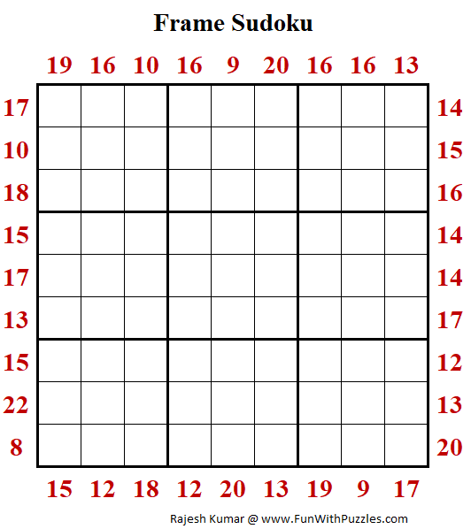 Frame Sudoku Puzzle (Fun With Sudoku #397)