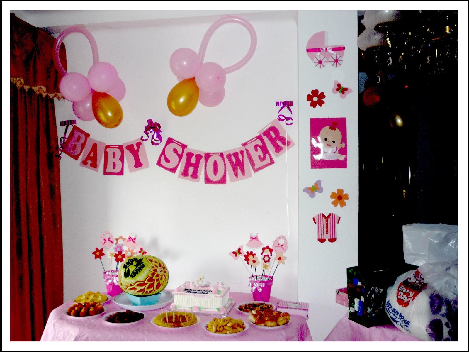 Baby nina fiestas mis inicios en la decoraci n de fiestas - Decoracion baby shower nina sencillo ...