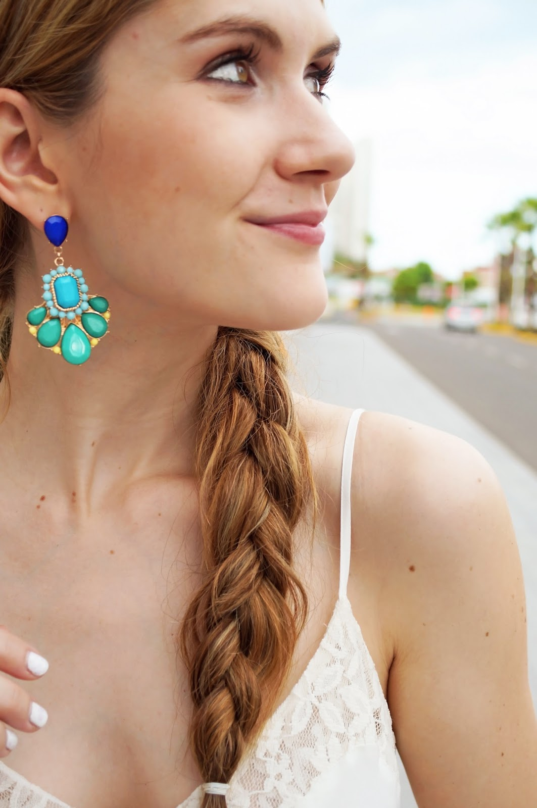 Statement Blue Earrings