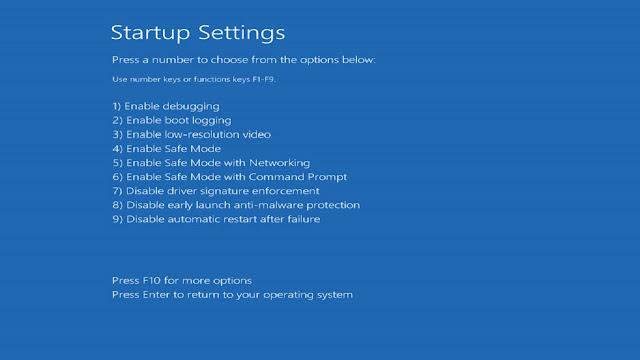 2 cách khởi động vào màn hình Startup Settings nếu Windows 10 lỗi không thể boot vào được desktop