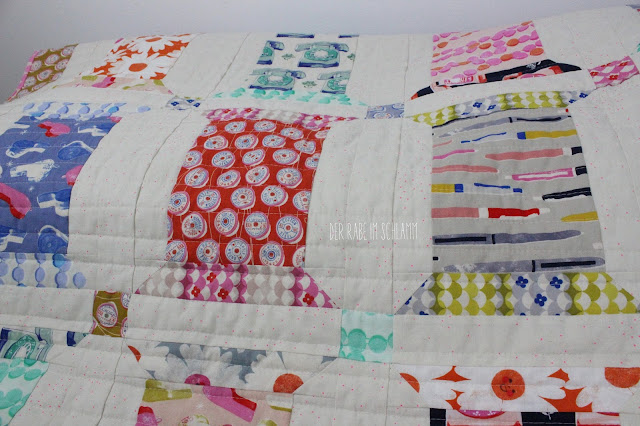 Der Rabe im Schlamm, Spool Soufflé Quilt, Spool Quilt, Quilt, Patchwork, Trinket, Cotton and Steel, Melody Miller