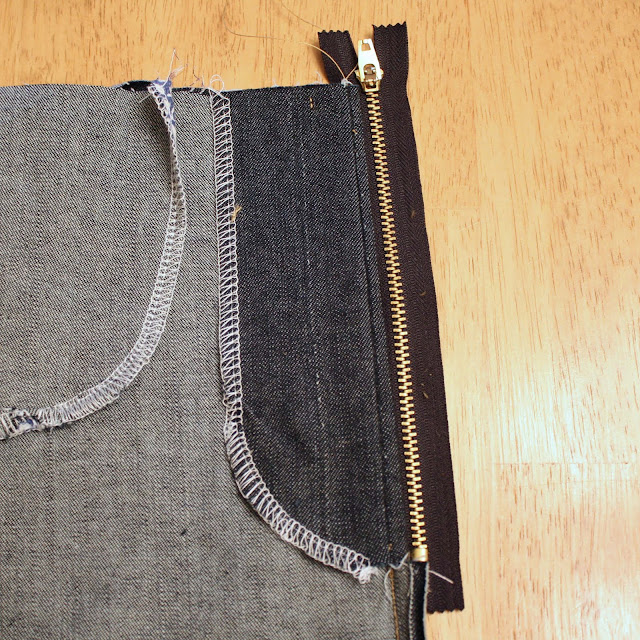 topstitching the zipper