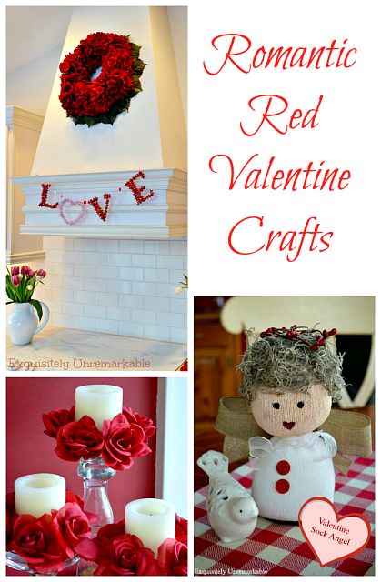 Romantic red home decor crafts for Valentine's Day