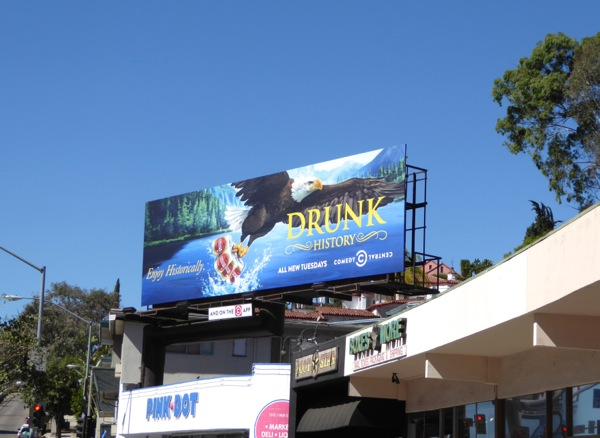 Drunk History season 4 Comedy Central billboard