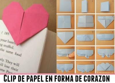 Cómo hacer un clip marcador corazón de origami