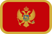 Rounded flag of Montenegro