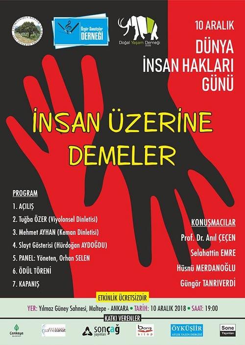 10 Aralık Dünya İnsan Hakları Günü Kutlandı