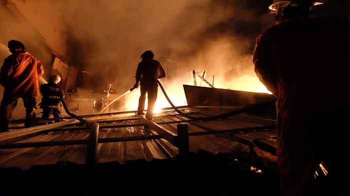 Akibat Korsleting Listrik, Pasar Kalodran Kembali Terbakar