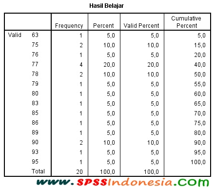 Interpretasi Output Distribusi Frekuensi dan Statistik Deskriptif SPSS