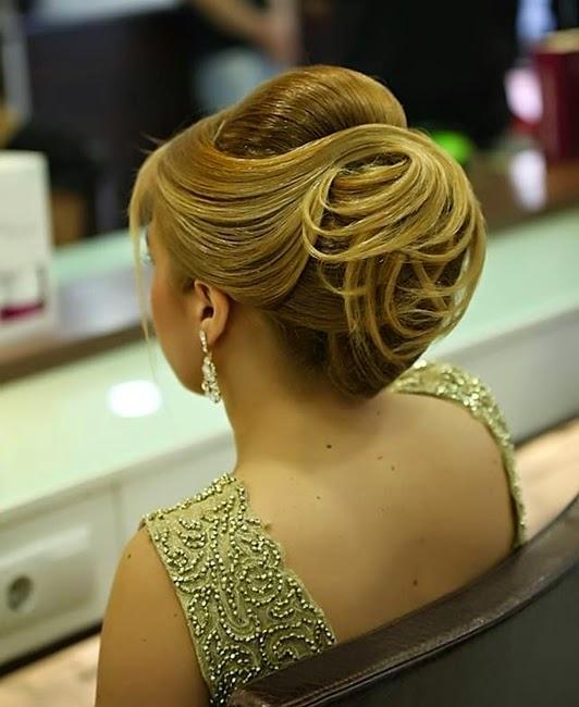Geflochtene Haarknoten Frisuren 2015
