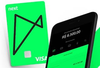 Cartão Banco NEXT anuidade Grátis ou Free