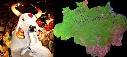 Amazônia. Boi Garantido vence o 44º Festival Folclórico de Parintins.