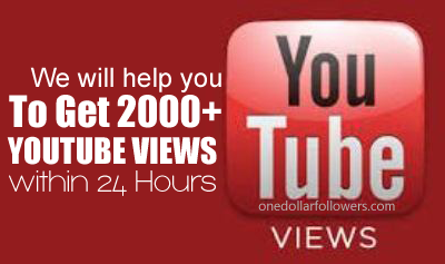 Buy 2000 Youtube Views For $1