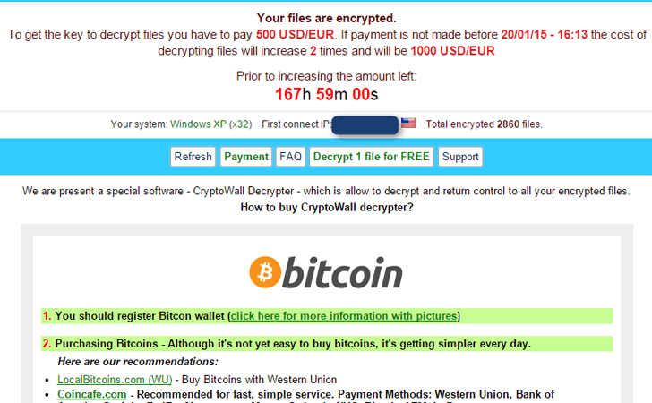 New Cryptowall 3.0 Ransomware Communicates over I2P Anonymous Network