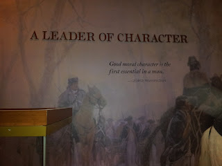 A Leader of Character. Good moral Character is the first essential in a man. - George Washington