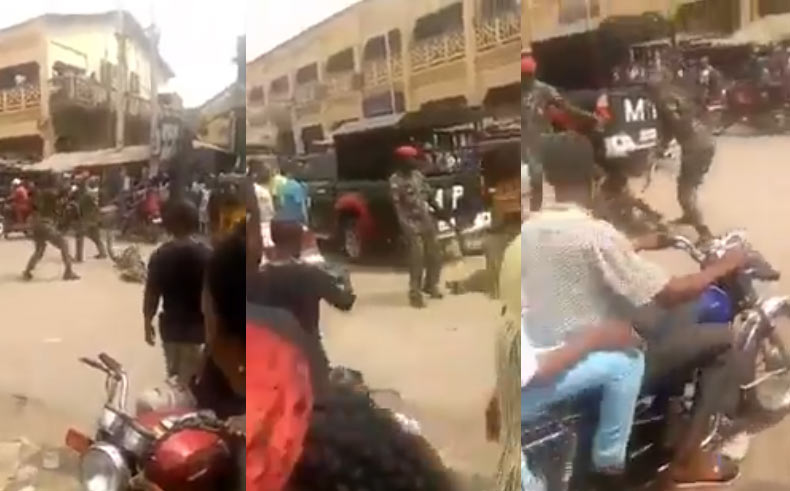 """Brave"" Nigerian soldiers flog crippled man for wearing camouflage shorts (video)"