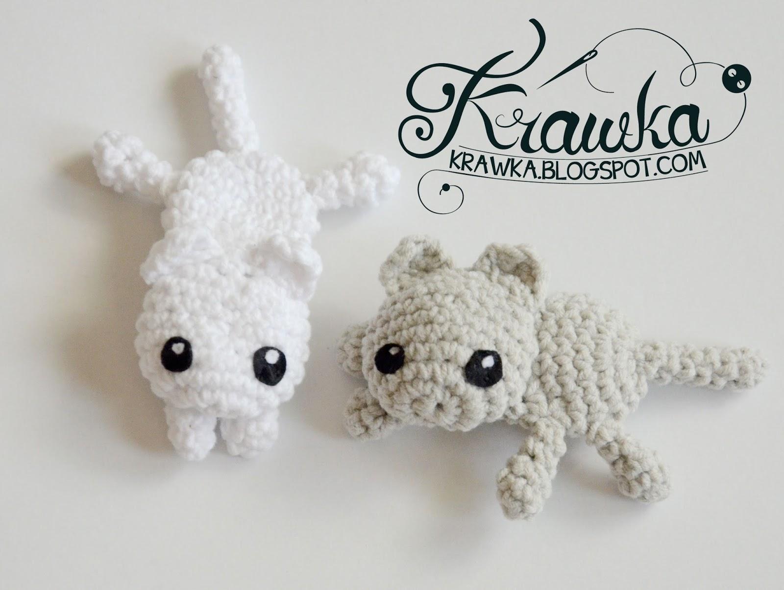 Krawka: Grey cat / White cat