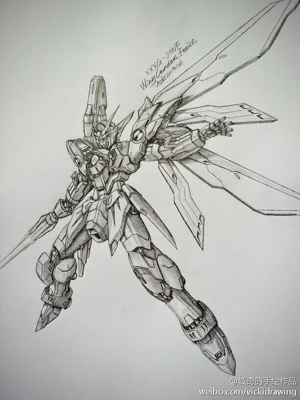 gundam and mobile suit pencil drawings by vicki via pixiv