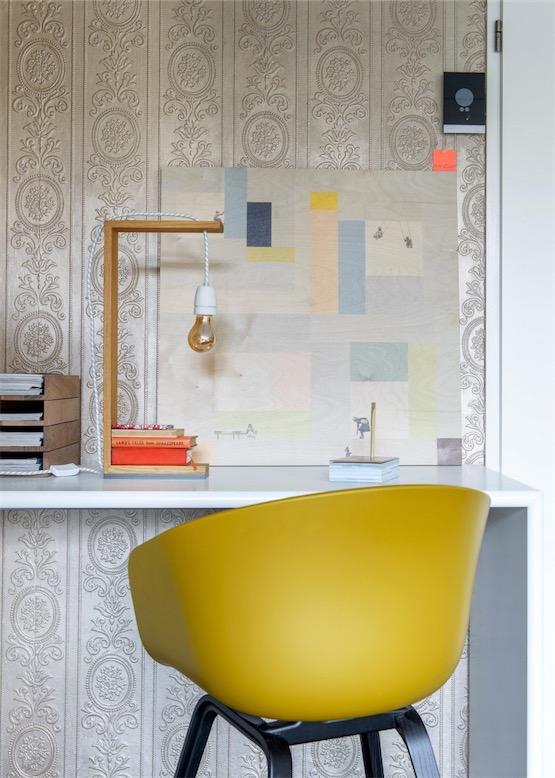 silla de despacho en amarillo chicanddeco