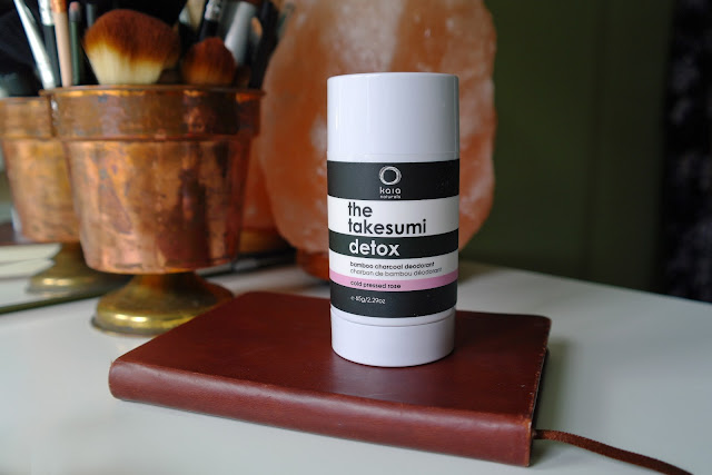 Kaia Naturals | The Takesumi Detox Bamboo Charcoal Deodorant Review