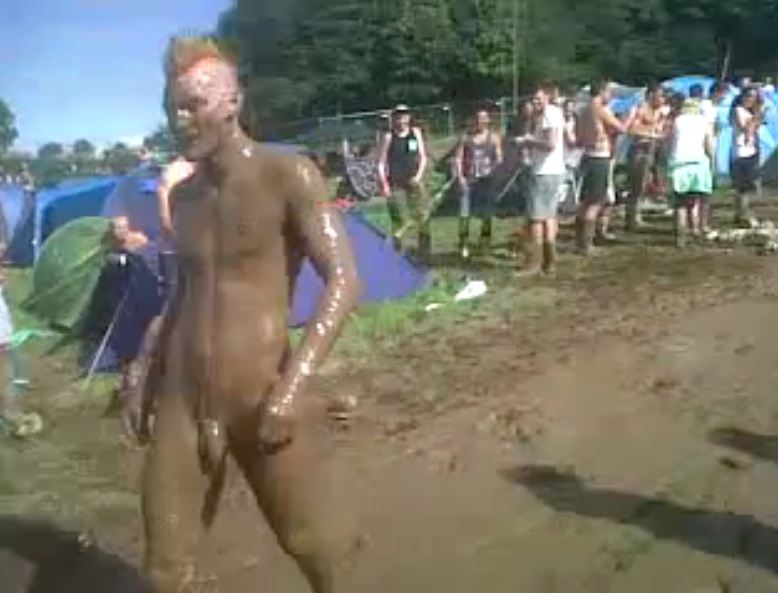 mud naked boy
