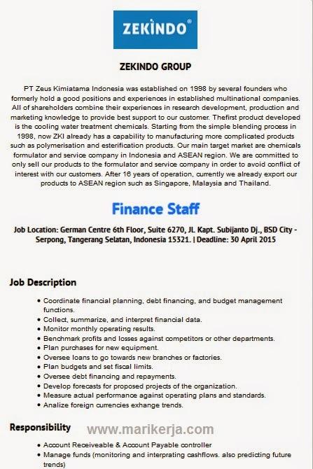 Lowongan Kerja Finance Tangerang