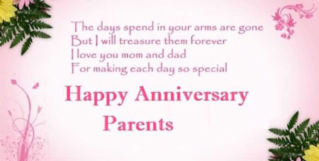 Parents Wedding Anniversary Wishes   Quotes   Messages & Images for Facebook