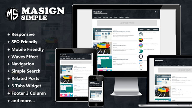 Masign Simple Responsive Blogger Template