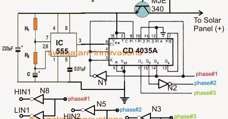 Solar 3 Phase Inverter Circuit Electronic Circuit Projects