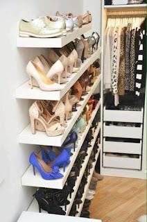 ideas para organizar el calzado vestidor