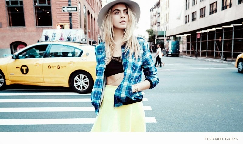 Cara Delevingne Strolls New York For The Penshoppe Spring Summer 2015 Campaign