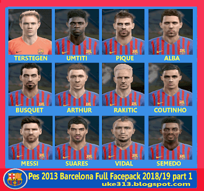 Pes 2013 Barcelona Full Facepack terbaru