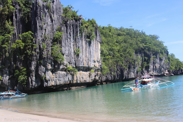 Magnificent view of the beach near the Underground River, Palawan