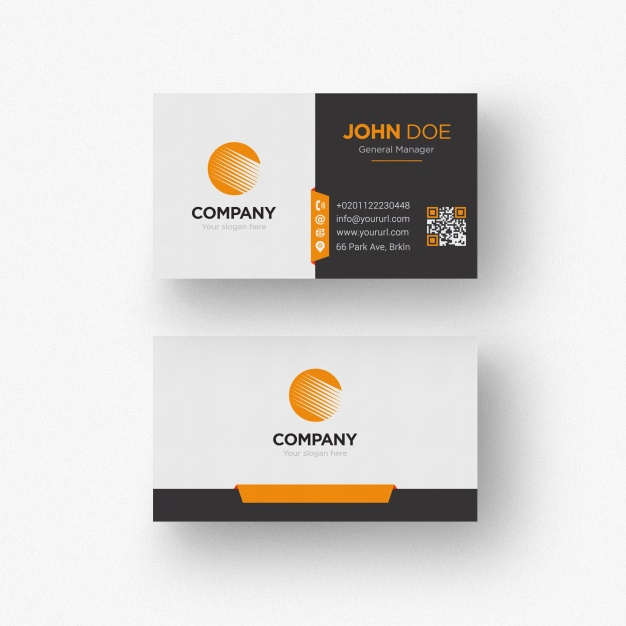 Black and white business card with orange details free psd vectorkh click here in vector logo psd created by cosmo studio freepik black and white business card with orange details free psd by freepik colourmoves