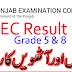 PEC Result 2016-2017 and Punjab School Education Board