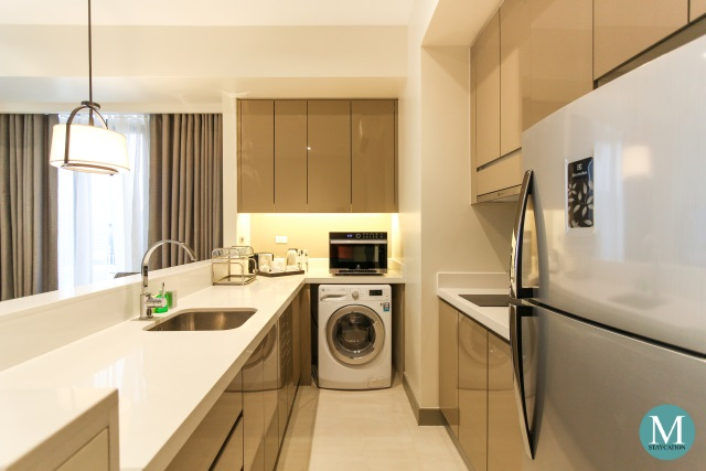Kitchenette, One-Bedroom Deluxe Apartment at Somerset Alabang Manila