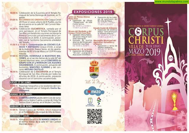 Programa de las fiestas del Corpus Christi 2019 en Villa de Mazo