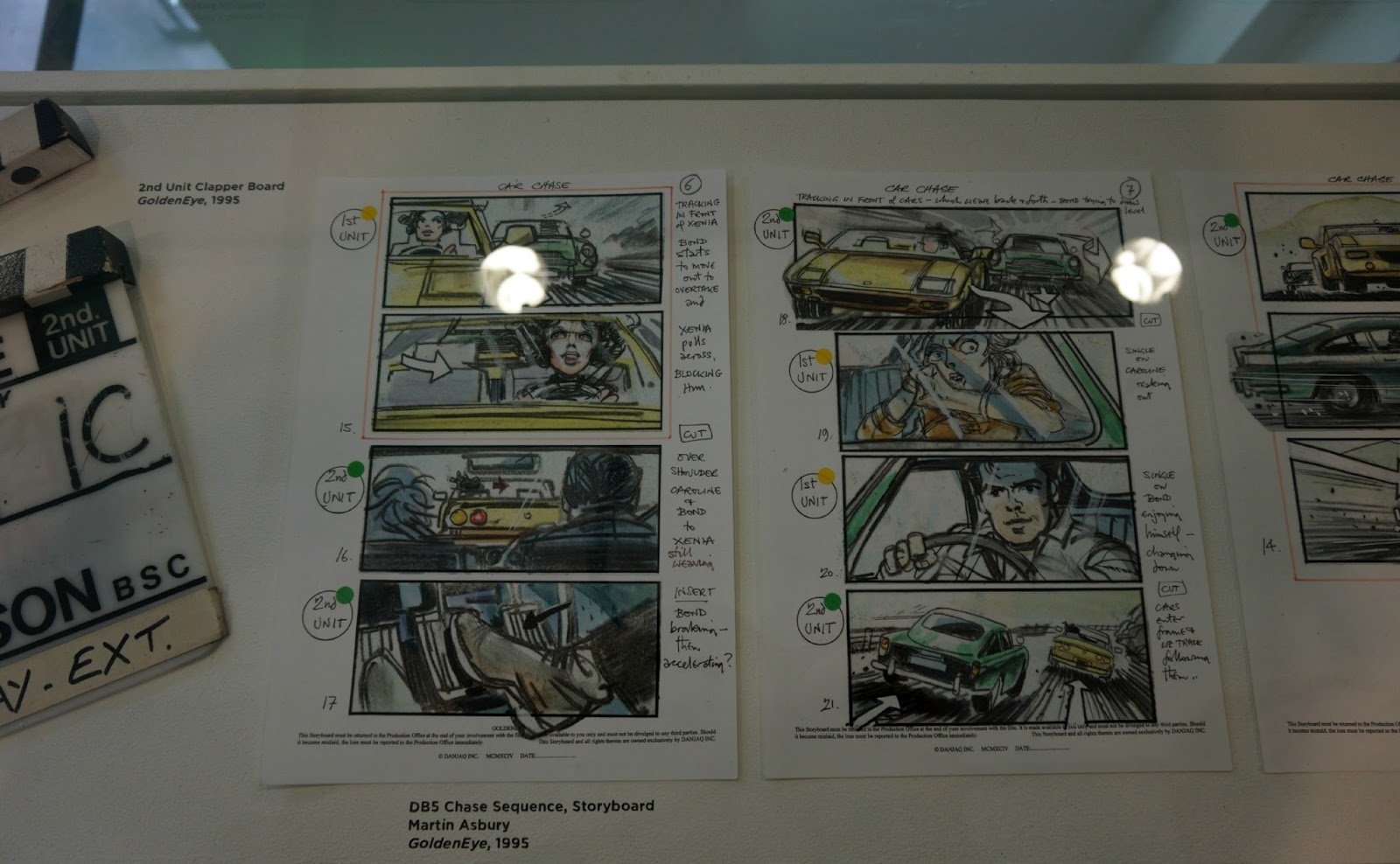 Storyboard at James Bond Car Exhibition