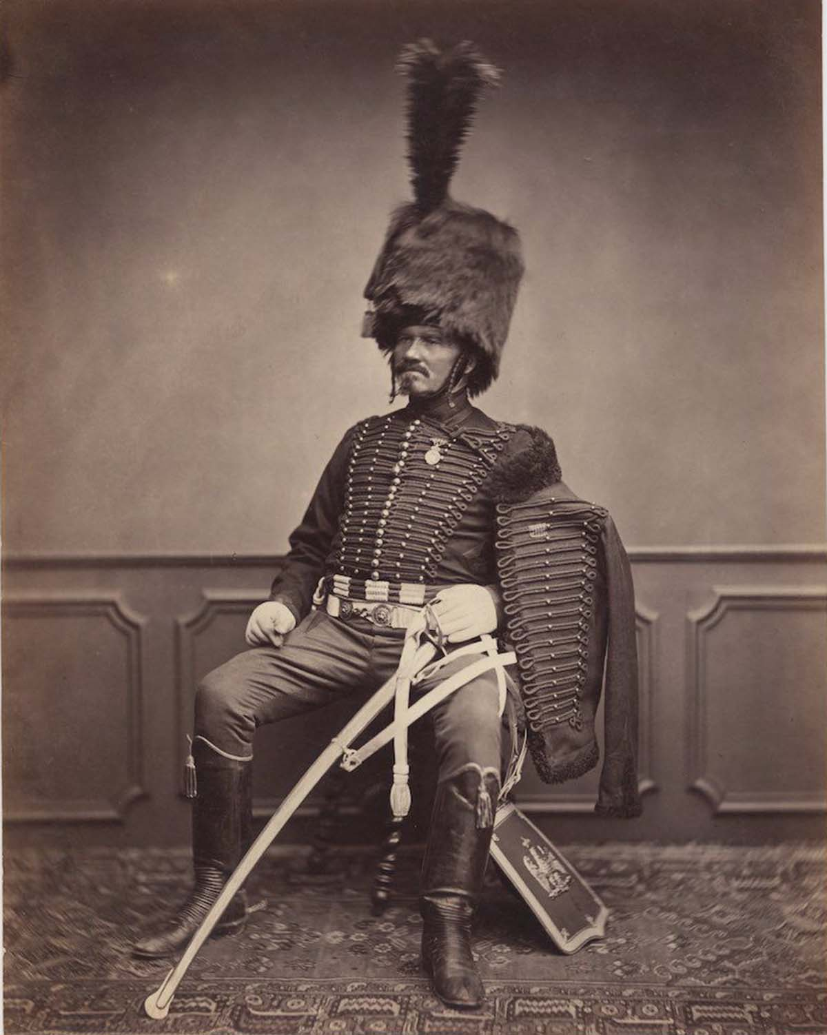 Pictured in his grand hussar uniform is Monsieur Moret of the 2nd Regiment, 1814-1815.